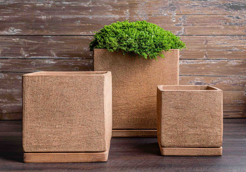 I/O Cube Planter - Set of 3 in Clay