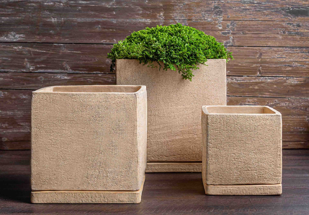 I/O Cube Planter - Set of 3 in Sand