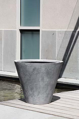 Laghetto Tall Cone Planter  - Lead Lite