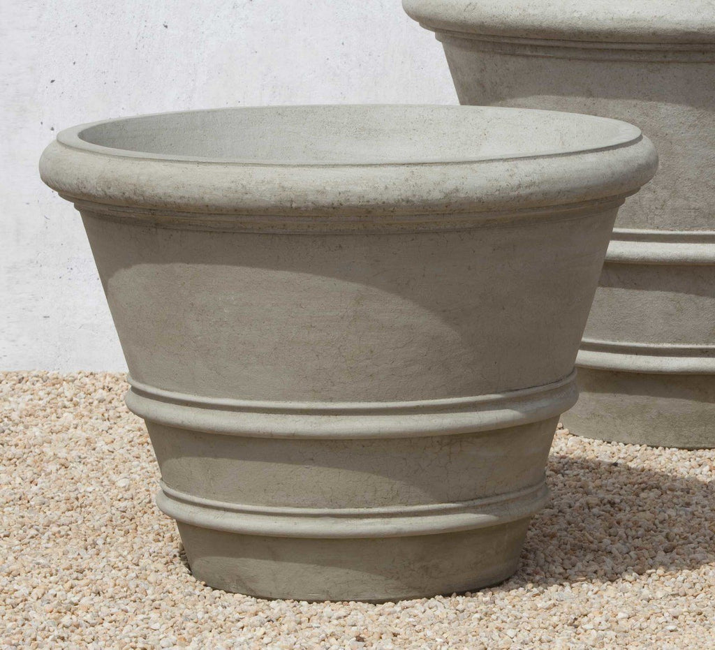 "Set of 2 Classic Rolled Rim 27"" Planters with FREE Plants"