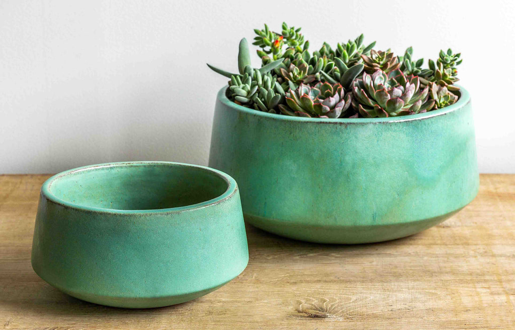 Scandia Planter - Set of 2 in Seafoam