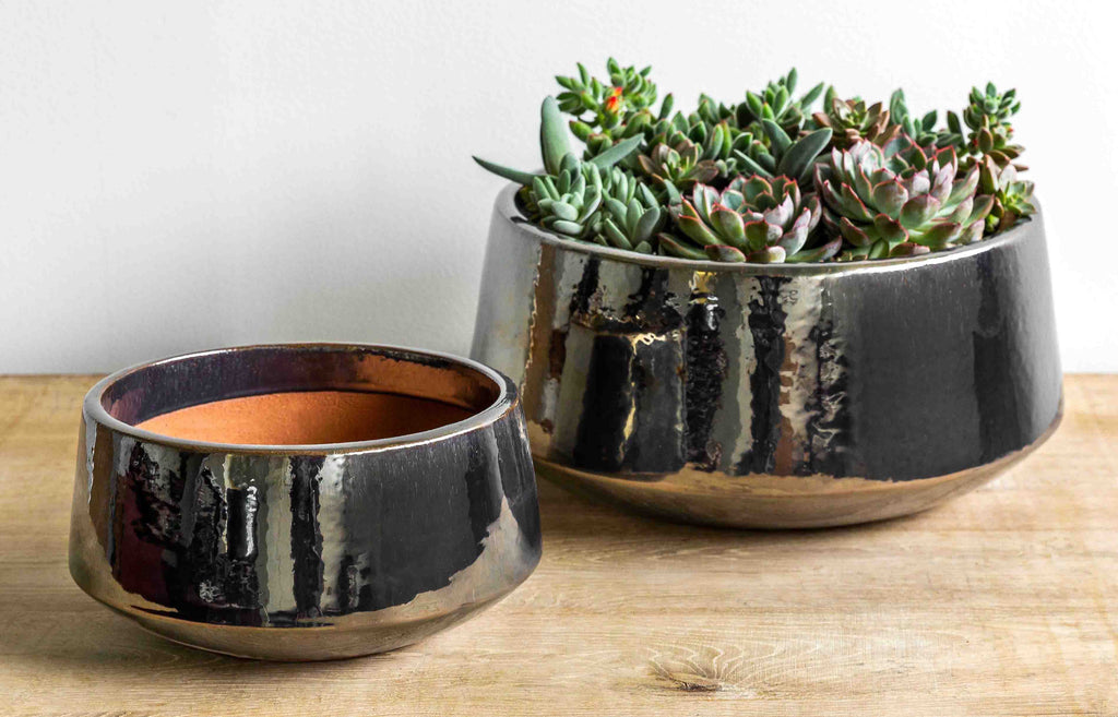 Scandia Planter - Set of 2 in Metallic