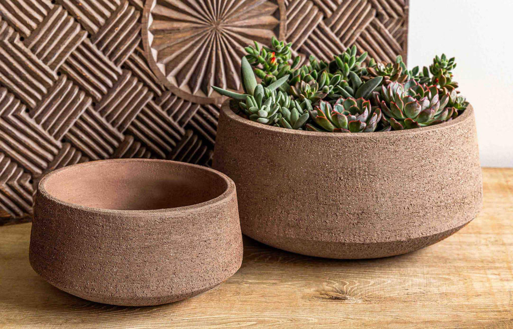 Scandia Planter - Set of 2 in Clay