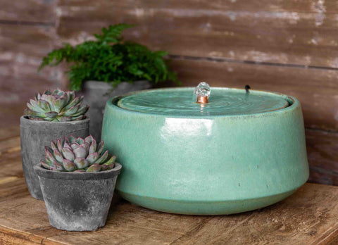 Large Scandia Fountain in Seafoam