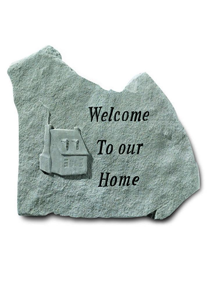 Welcome to Our Home Stone Plaque