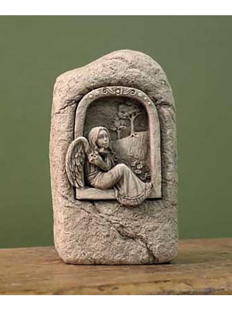 Wistful Angel Garden Stone