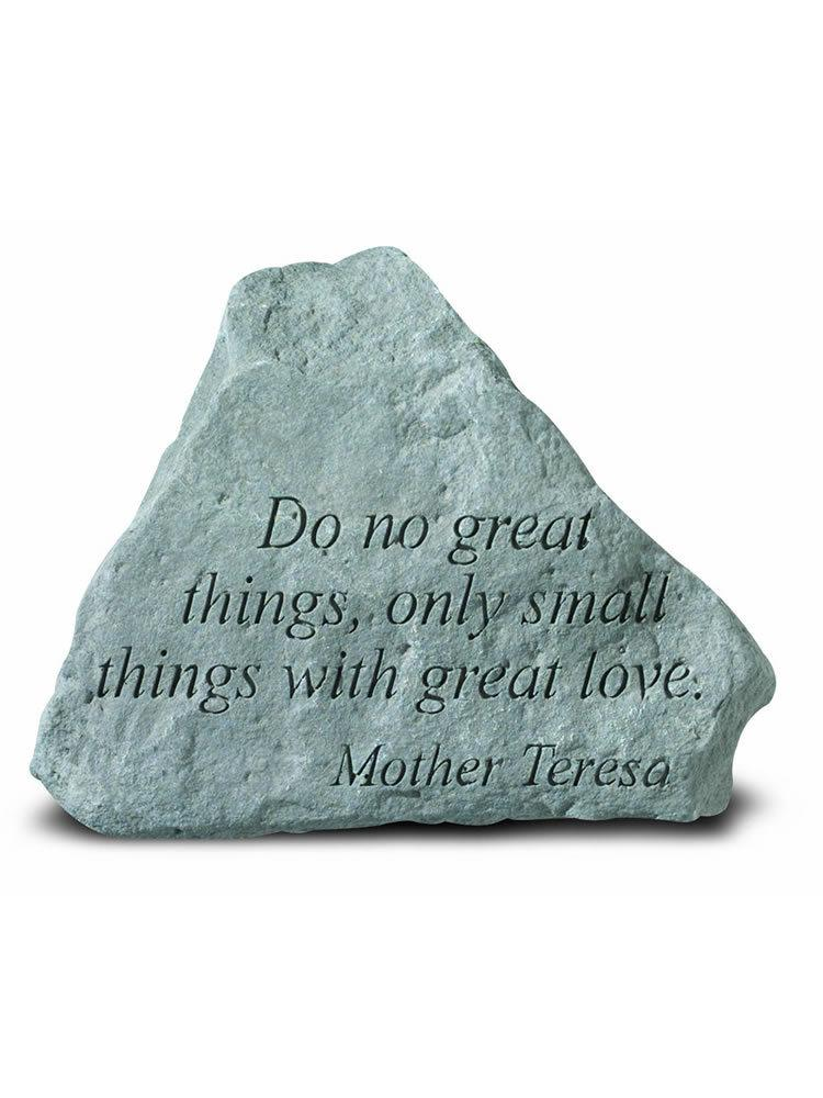 Do No Great Things Mini Garden Stone/Plaque