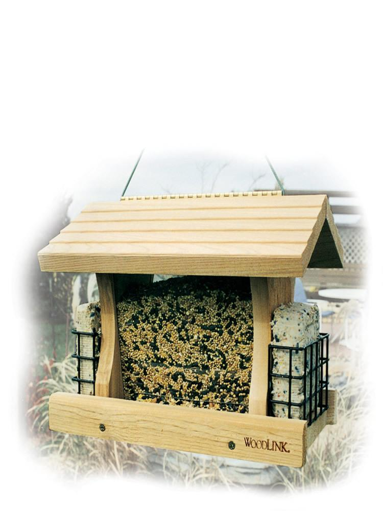 Deluxe Cedar Bird Feeder with Suet Cages
