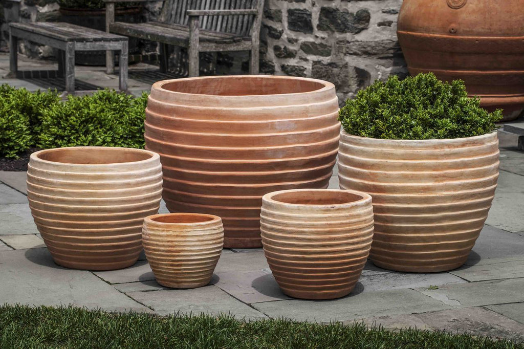 Elia Planter - Set of 5 in Terra Cotta