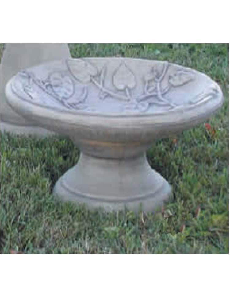 Vine Motif Bird Bath, Small