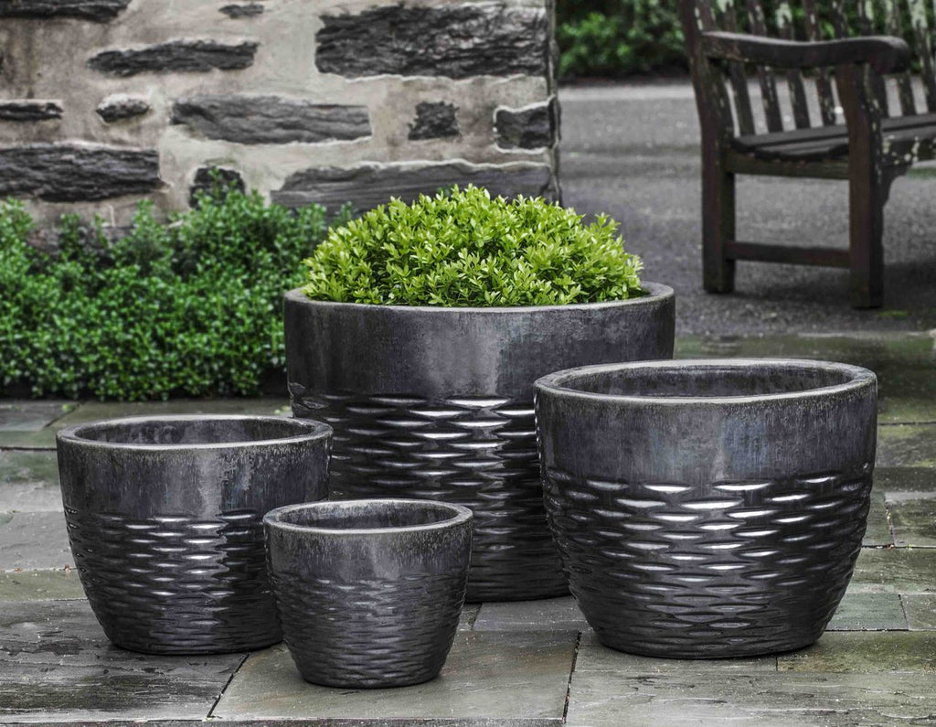 Hyphen Planter  - Set of 4 in Ice Black