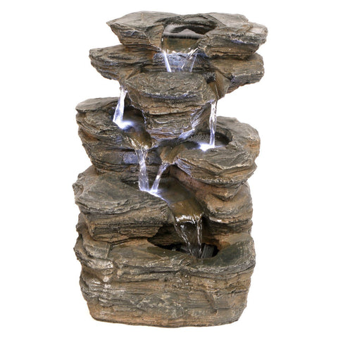Devil's Thumb Falls Illuminated Garden Fountain