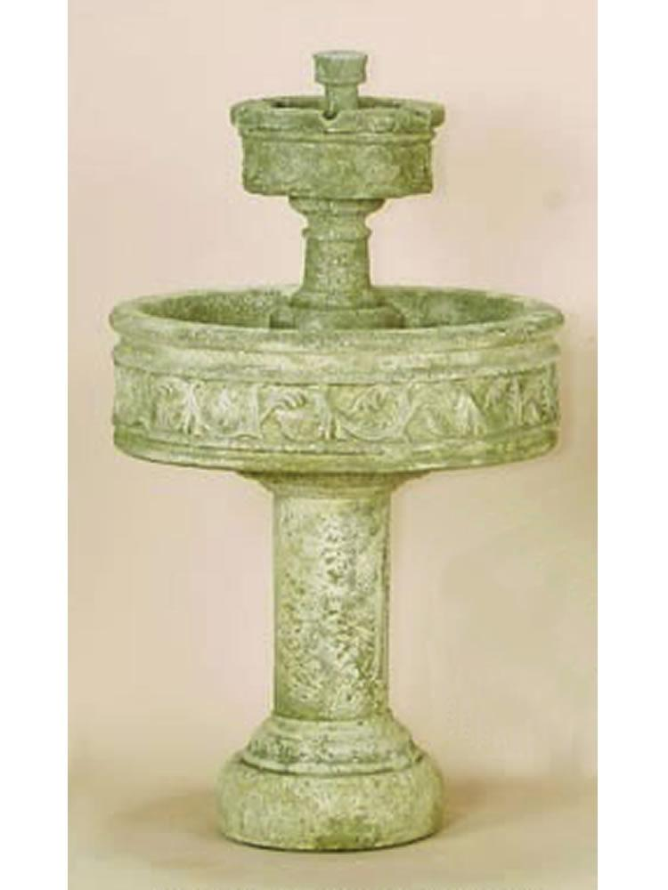 Paestum Two Tier Fountain With Tall Base