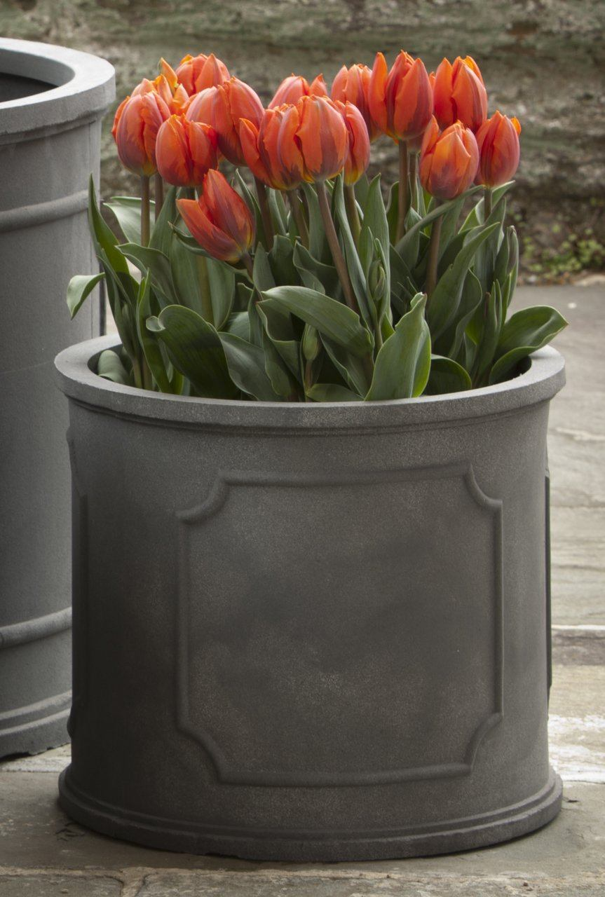 Small Portsmouth Round Planter - Lead