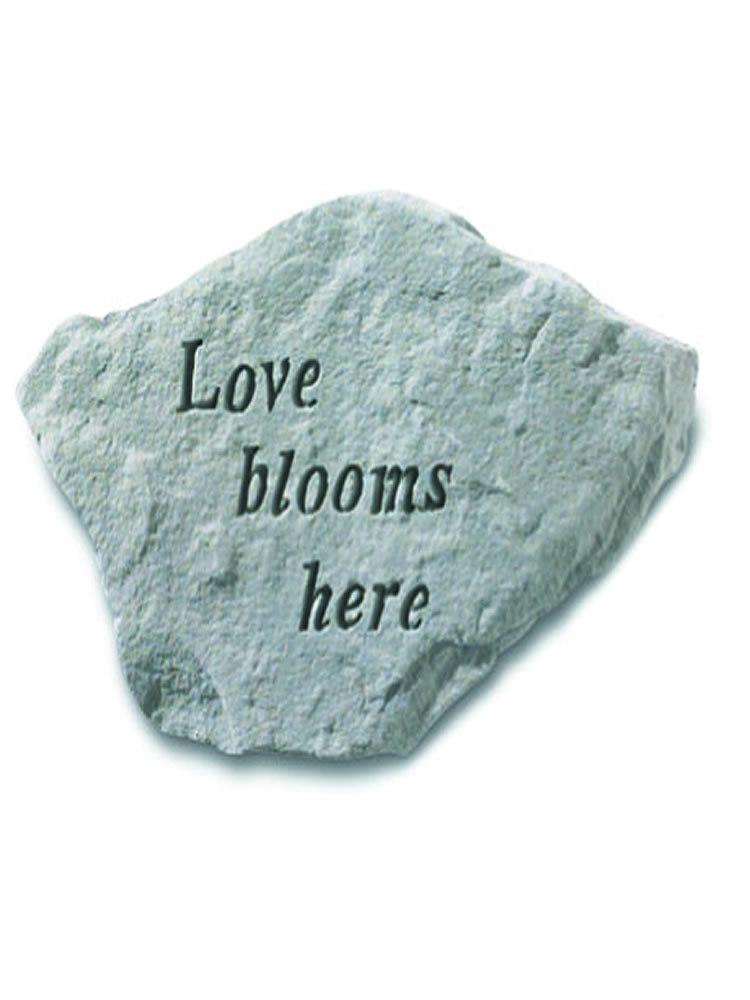 Love Blooms Here Stone Plaque