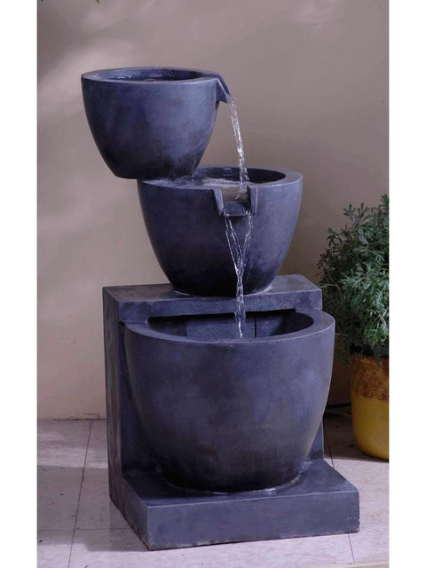 Modern Tier Bowls Indoor/Outdoor Water Fountain