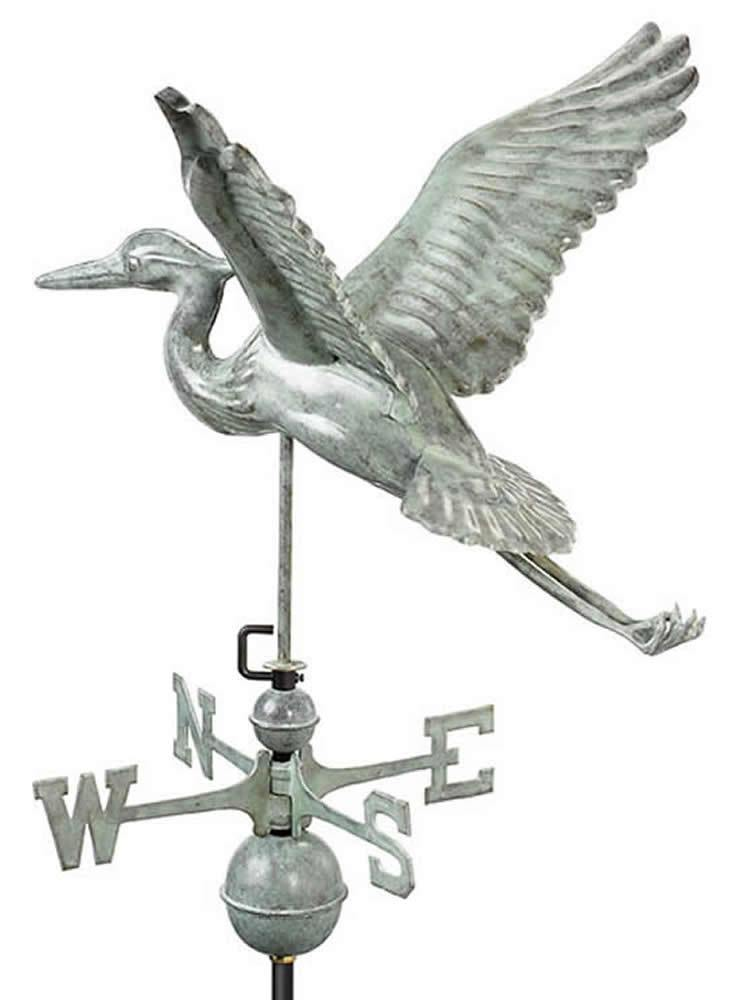 Blue Heron Standard Weather Vane