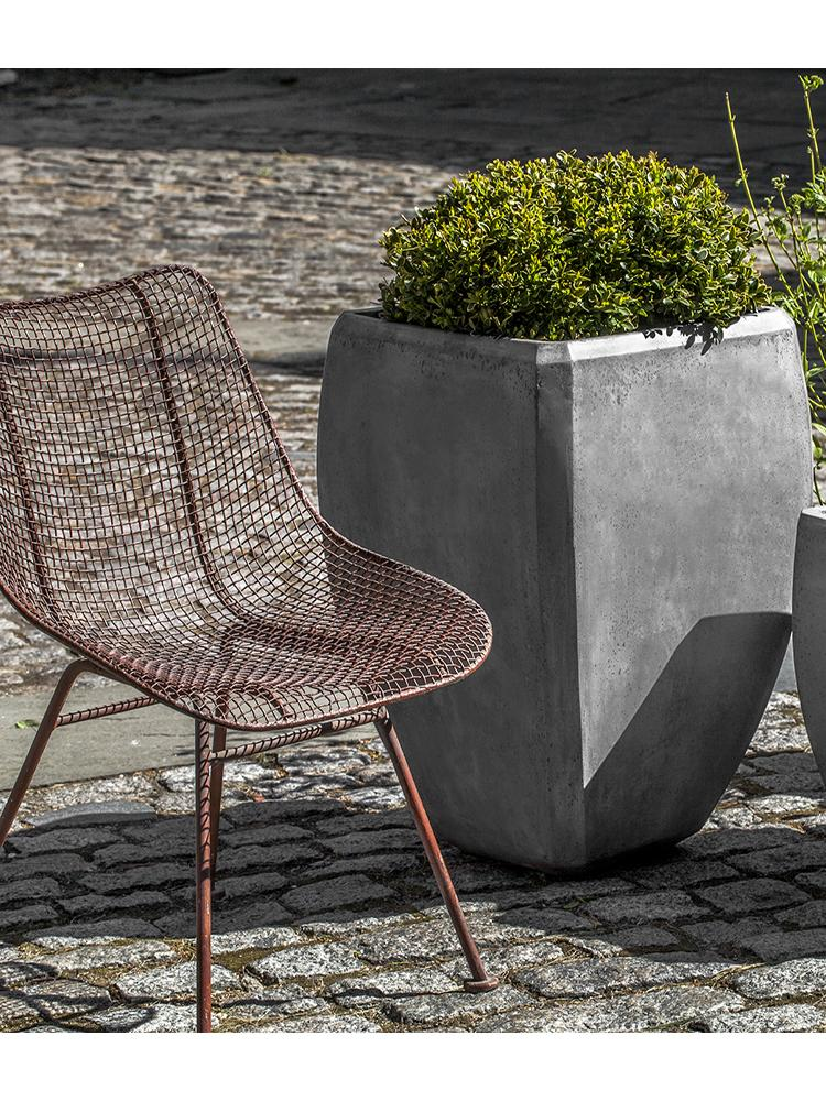Tall Urban Bevel Planter - Set of 2