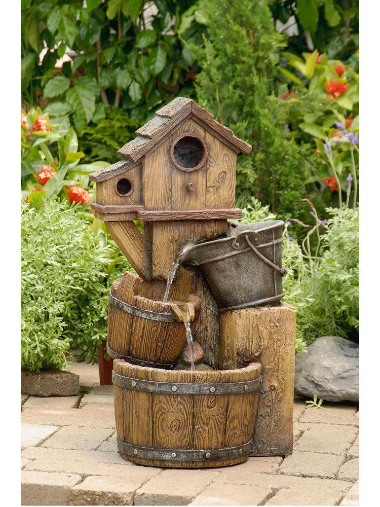 Tiered Bird House Water Fountain