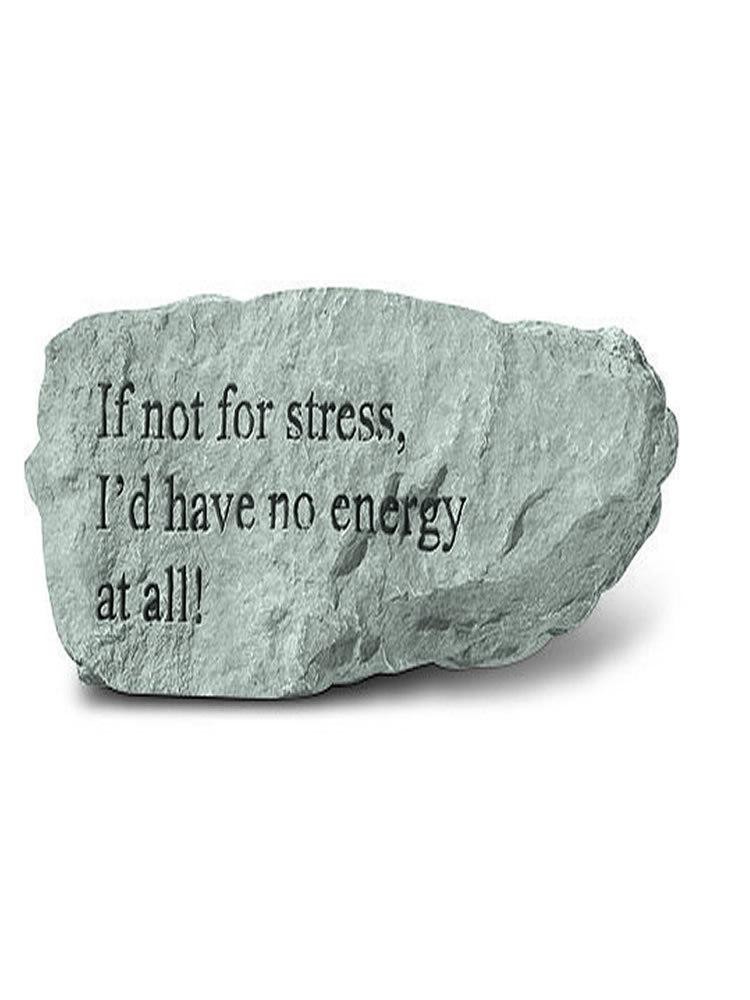 If Not For Stress Mini Garden Stone/Plaque