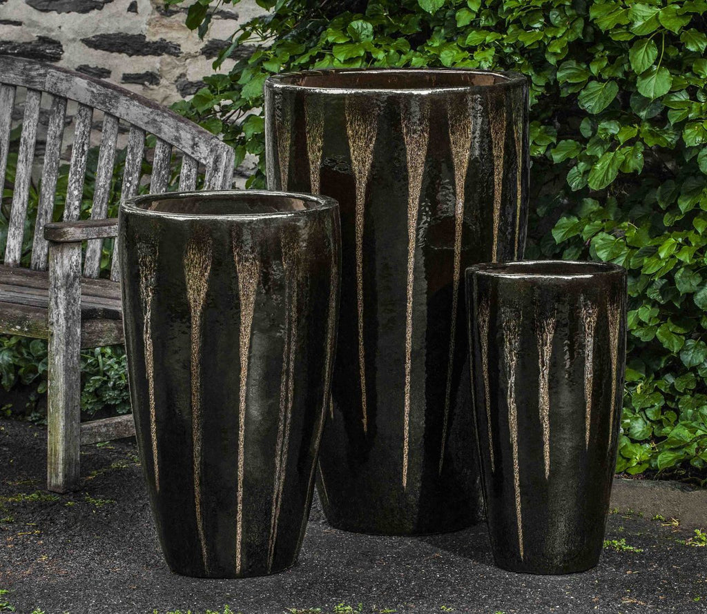 Alessia Planter - Set of 3 in Chocolate Stout