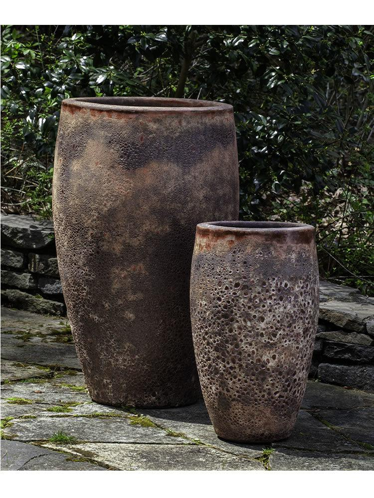 Ta Som Planter Set of Two in Angkor Red