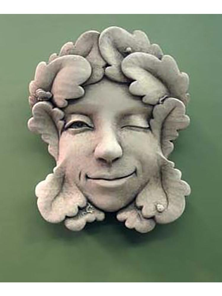 Winking Garden Face Plaque