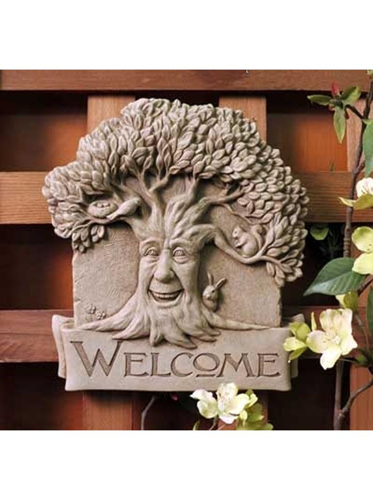 Woodland Welcome Garden Plaque