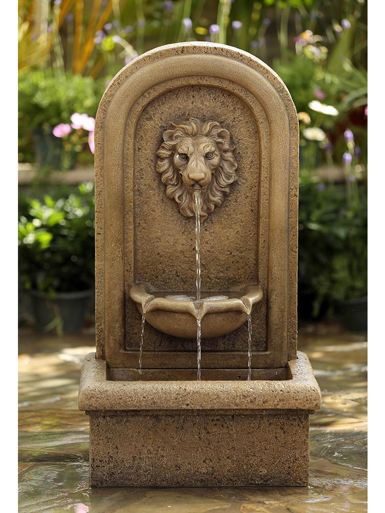 Classic Lion Head Wall Fountain