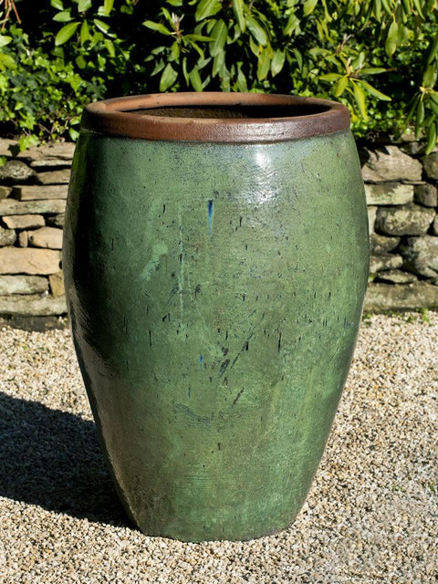 Kuro Jar in Rustic Green