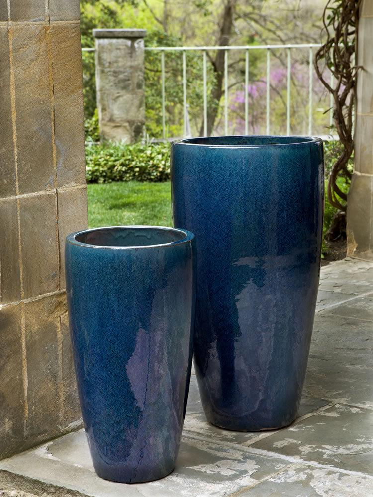 Rioja Planter Set of 2 in Indigo Rain