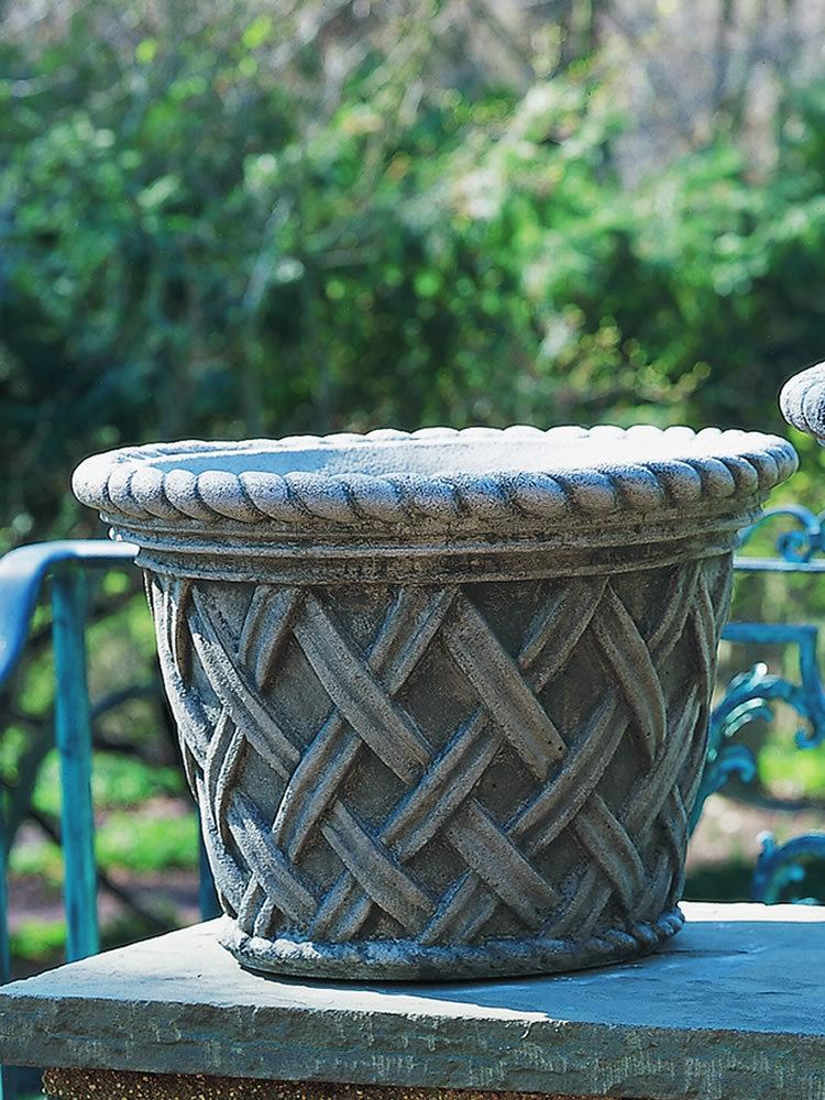 English Weave Planter, Medium