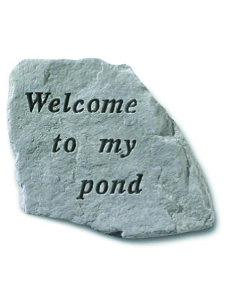 Welcome to My Pond Stone Plaque