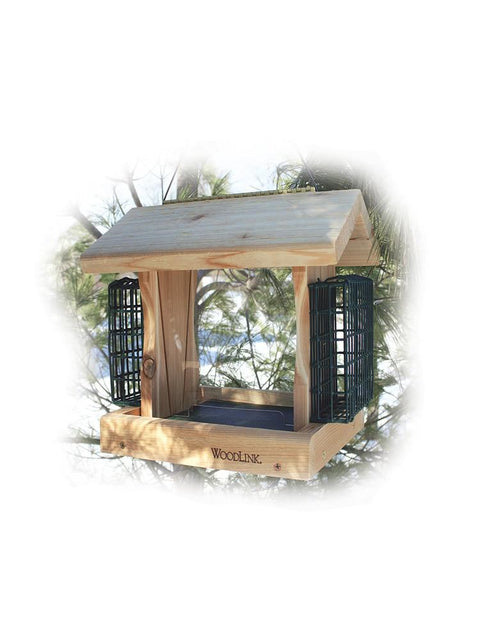Premier Cedar Bird Feeder with Suet Cages