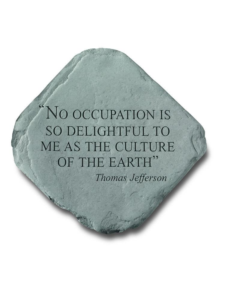 No Occupation is So Delightful Garden Accent Rock