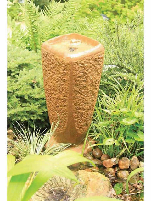 Large Terra Cotta Ripple Fountain Kit
