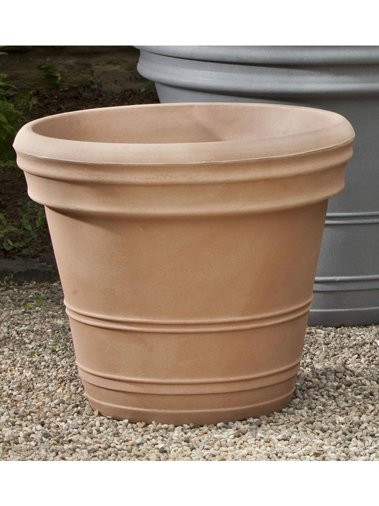 Polyethylene Double Rolled Rim Planter, 18""