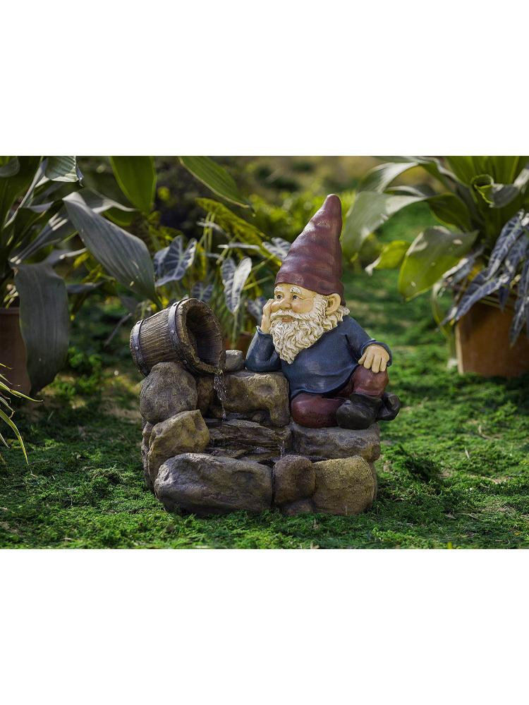 Pondering Gnome Fountain