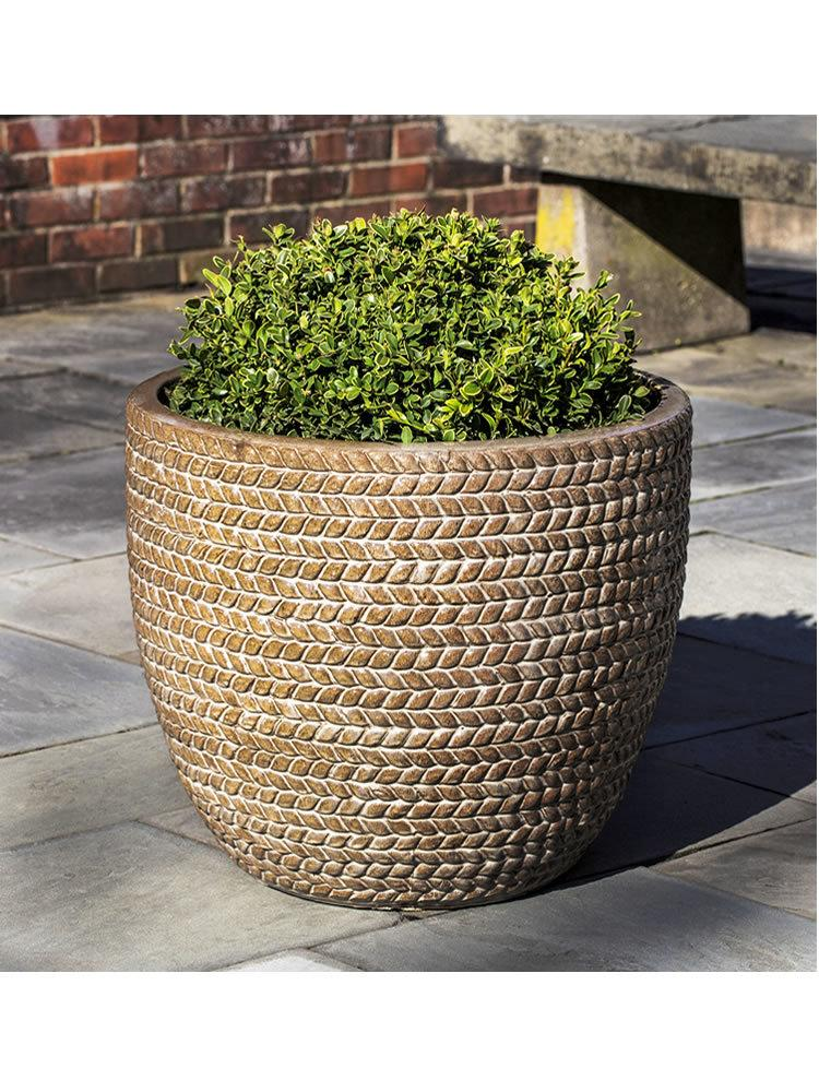 Sisal Weave Planter Set of Three in Cafe Au Lait