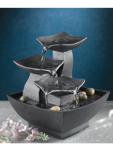 Modern Leaf Tabletop Fountain