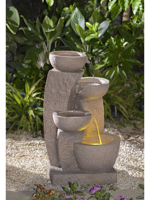 Pouring Bowls Fountain in Sandstone