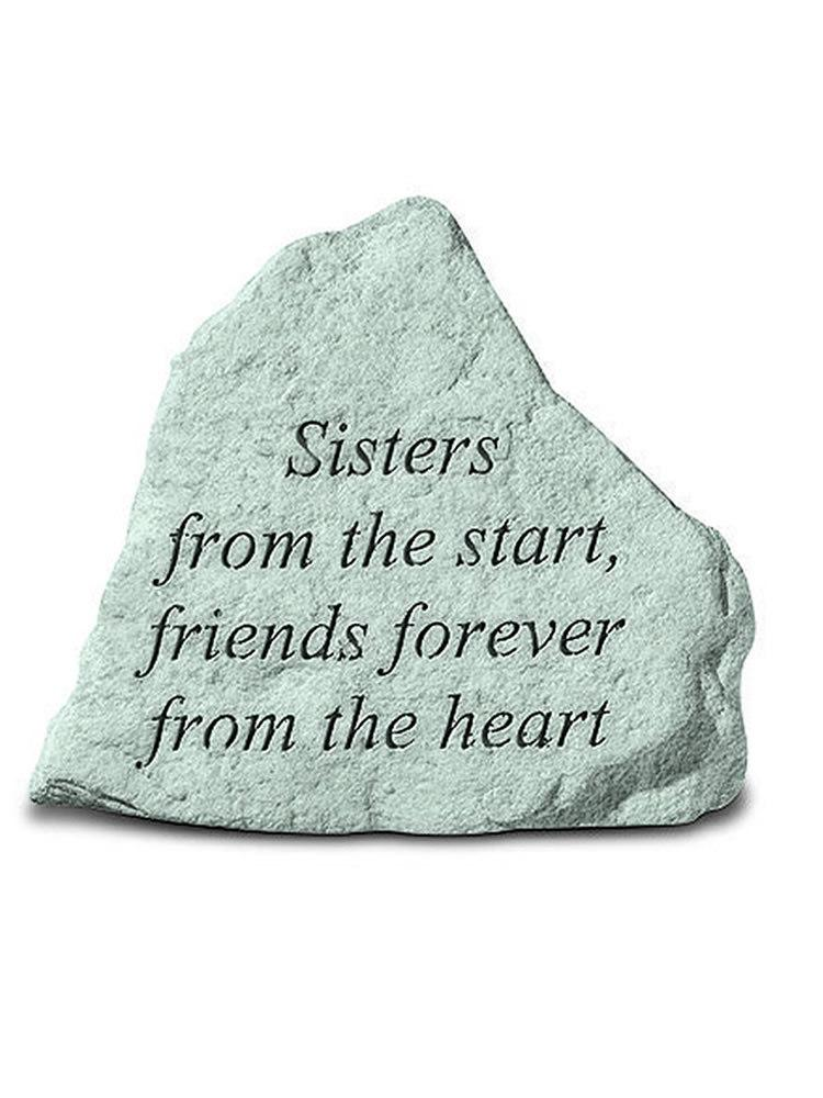 Sisters From the Start Mini Garden Stone/Plaque