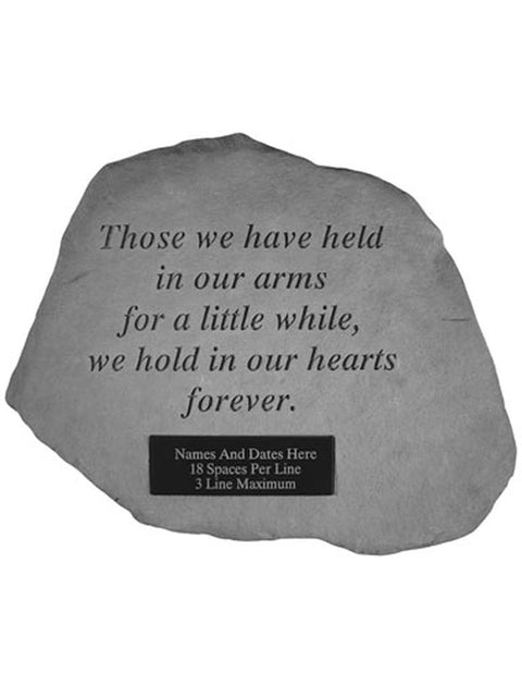 Those we have held.. Garden Stone Engraved