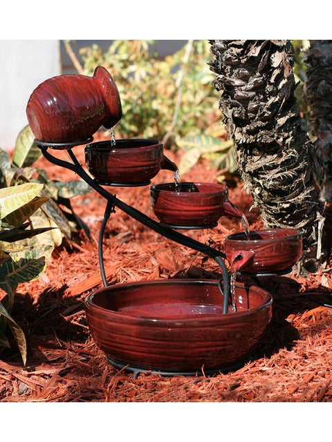 Lava Bamboo Ceramic Fountain