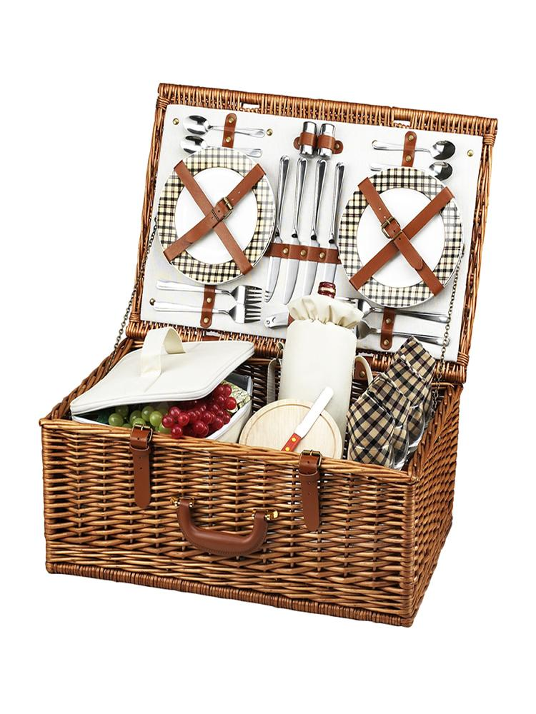 Dorset Basket for Four in London Plaid