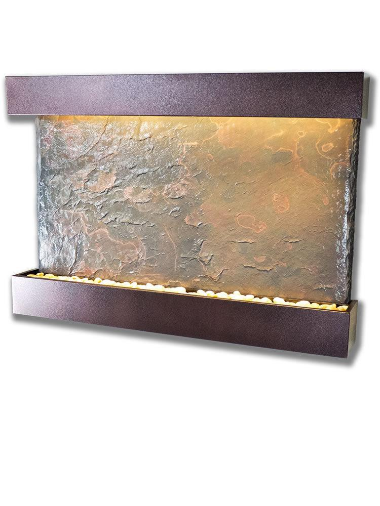 Large Horizon Wall Fountain in Copper Vein