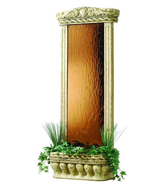 Large Bronzed Mirror Weathered Water Garden