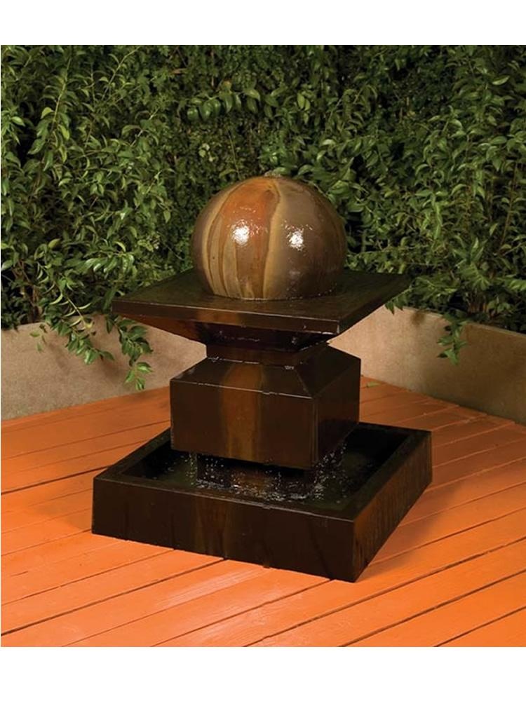 Alabaster Fountain with Sphere