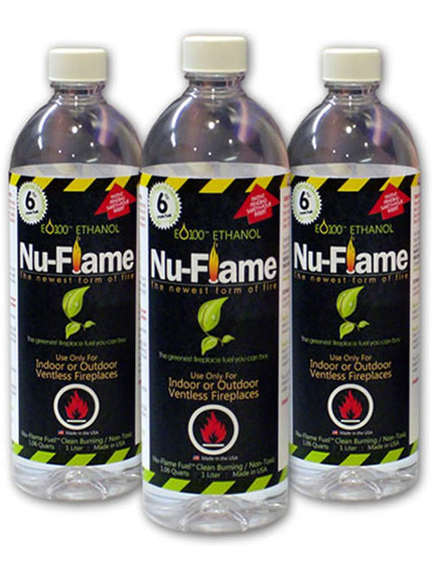 Nu Flame Bio Ethanol Fuel Case of 3