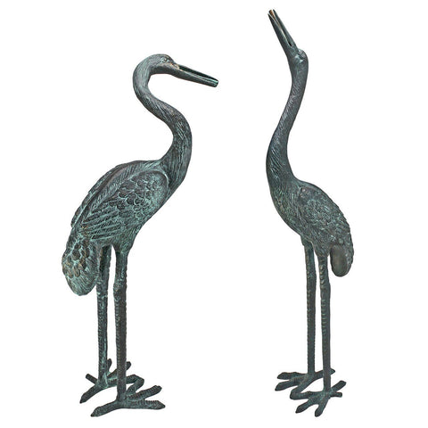 Medium Bronze Crane: Set